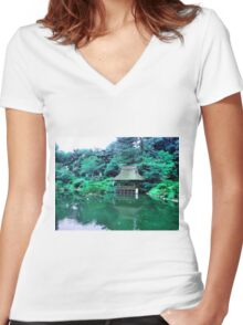 My Lonely Place Women's Fitted V-Neck T-Shirt