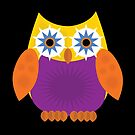 Star Owl - Yellow Orange Purple 2 by Adamzworld