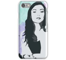 Natasha Negovanlis Watercolour Background iPhone Case/Skin