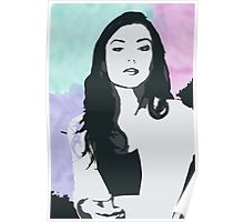 Natasha Negovanlis Watercolour Background Poster