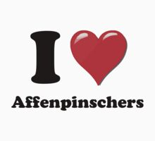 I Heart Affenpinscher by HighDesign
