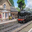 The Train Arriving On Platform One by TonyCrehan