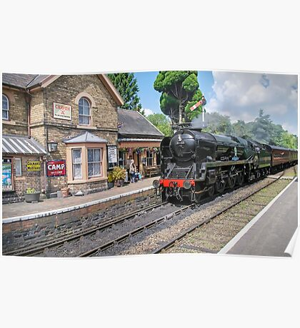 The Train Arriving On Platform One Poster