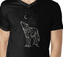 Song of the Lonely Moon Mens V-Neck T-Shirt