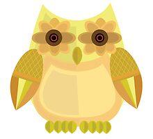 Harvest Owl - Yellow by Adamzworld