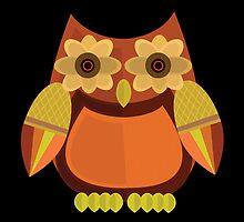 Harvest Owl - Red Orange 2 by Adamzworld