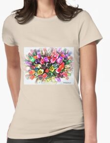 flowers forever  Womens Fitted T-Shirt