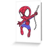 Chibi Spider-Man Greeting Card