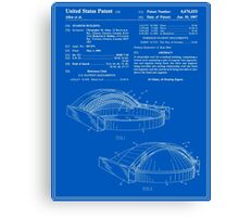 Stadium Patent - Blueprint Canvas Print