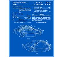 Stadium Patent - Blueprint Photographic Print