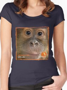 Orangutan Eyes - Windows to their Soul Women's Fitted Scoop T-Shirt