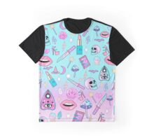 Girly Pastel Witch Goth Pattern Graphic T-Shirt