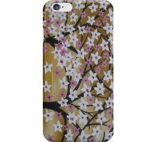 brown white pink trees with cherry blossom blossoms  iPhone Case/Skin