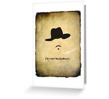 Huckleberry Finale Greeting Card