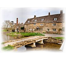 The Mill  Lower Slaughter  Cotswolds  UK Poster