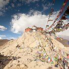 Tibetan Buddhist prayer flags in Leh by Travelographer