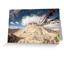 Tibetan Buddhist prayer flags in Leh Greeting Card