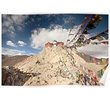 Tibetan Buddhist prayer flags in Leh Poster