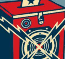 Retro Voting Poster. Sticker