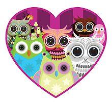 Love Owls 1 (white) by Adamzworld