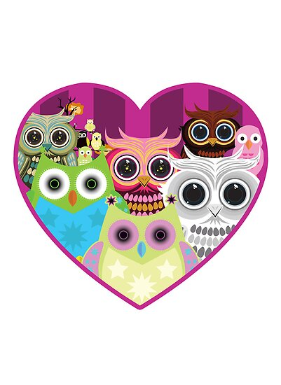 Love Owls 1 (white) by Adamzworld