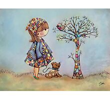 The Patchwork Tree Photographic Print