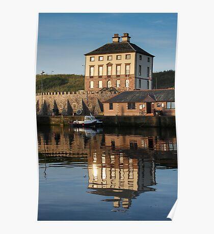 Gunsgreen House, Eyemouth: Harbour reflection Poster