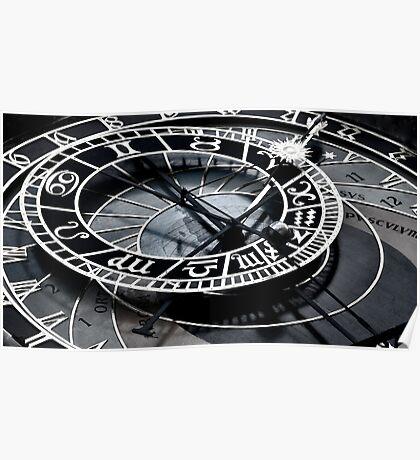 Astrological Clock V Poster
