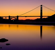 Golden Gate S. Francisco Sunset by Gianni Cicalese