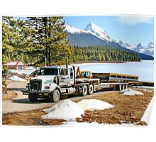 Unloading on Maligne Lake Poster