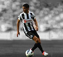 Hatem Ben Arfa Newcastle 10 (black and white) by Krull