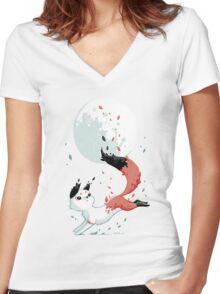 Shedding Women's Fitted V-Neck T-Shirt