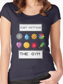 Pokemon hitting the gym Women's Fitted Scoop T-Shirt
