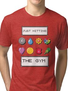 Pokemon hitting the gym Tri-blend T-Shirt