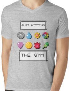 Pokemon hitting the gym Mens V-Neck T-Shirt