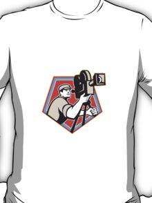 Cameraman Vintage Film Reel Camera Retro T-Shirt
