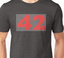 The Number 42 (red) Unisex T-Shirt