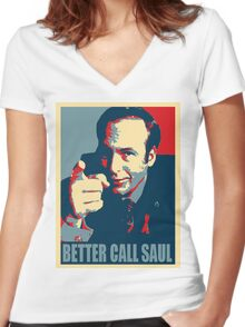 Better call Saul! Women's Fitted V-Neck T-Shirt