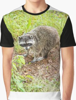 What hole? Racoon Graphic T-Shirt