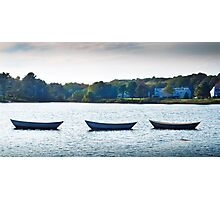3 Boats in Kennebunkport Photographic Print