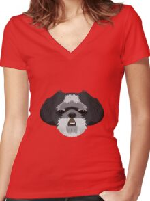 Shih Tzu Women's Fitted V-Neck T-Shirt