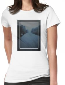 Lonely Road Womens Fitted T-Shirt