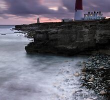Portland Bill All Lit Up by Chris Frost Photography