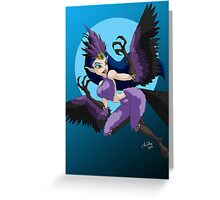 Celebrate Monster Girls - The Harpy Greeting Card