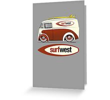 SurfWest Austin Surf Van Greeting Card