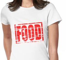Food red rubber stam effect Womens Fitted T-Shirt
