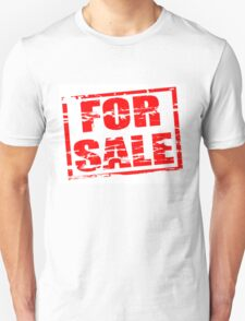 For sale red rubber stamp effect T-Shirt