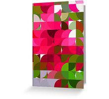 Crape Myrtle Abstract Circles 1 Greeting Card