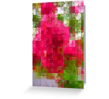 Crape Myrtle Abstract Circles 2 Greeting Card