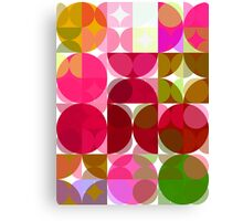 Crape Myrtle Abstract Circles 3 Canvas Print